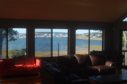 Wellfleet Cape Cod vacation rental - View From The Living Room Of Wellfleet Harbor