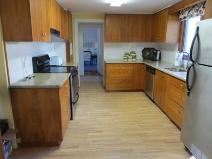 Dennis Cape Cod vacation rental - Kitchen with granite countertops and stainless steel appliances.