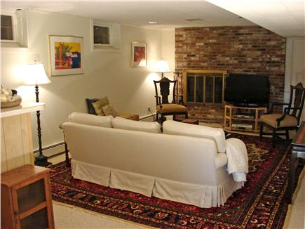 East Orleans Cape Cod vacation rental - Lower level comfortable family room w/ flat screen TV and bar