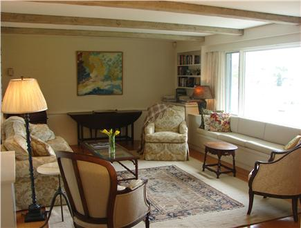 East Orleans Cape Cod vacation rental - Lovely spacious living room offering panoramic water views