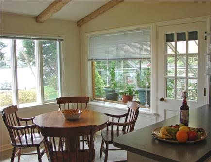 East Orleans Cape Cod vacation rental - Second dining area w/ views, adjacent to flowering greenhouse