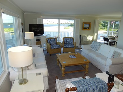 North Chatham, Beach, w Kayaks Cape Cod vacation rental - Vast water views from the living and dining rooms