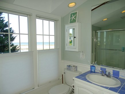 North Chatham, Beach, w Kayaks Cape Cod vacation rental - Master Bathroom, full, ensuite, with double action blinds