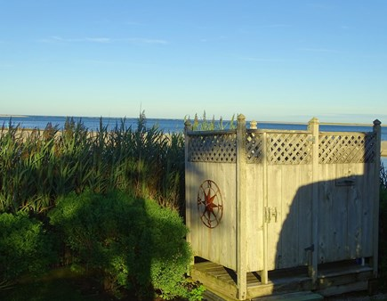 North Chatham, Beach, w Kayaks Cape Cod vacation rental - End the day with a steamy full pressure outdoor shower