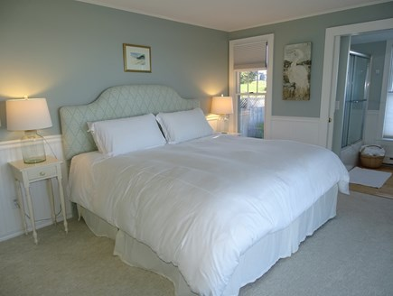 North Chatham, Beach, w Kayaks Cape Cod vacation rental - King Master,  power base bed/ w remote, slider to deck/ hammock