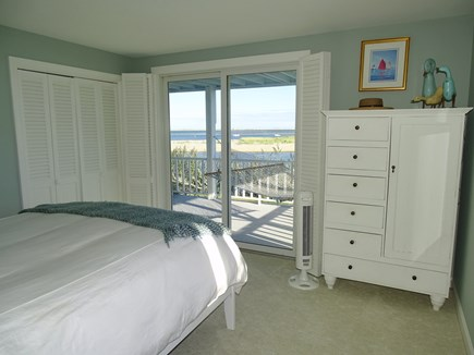 North Chatham, Beach, w Kayaks Cape Cod vacation rental - Queen bedroom provides slider to lower deck, water views