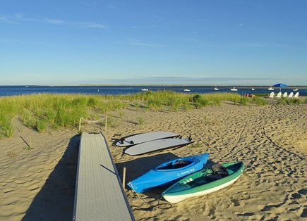 North Chatham, Beach, w 4 kaya Cape Cod vacation rental - The end of the boardwalk, semi-private beach w/ SUPs and kayaks