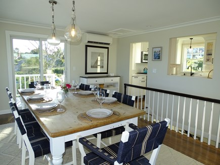 North Chatham, Beach, w Kayaks Cape Cod vacation rental - View of dining area from living room, showing kitchen