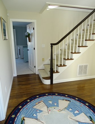 "North Chatham, Beach, w Kayaks Cape Cod vacation rental - Stairs down to the 3 bedrooms ""upside-down house""  aCape favorite"