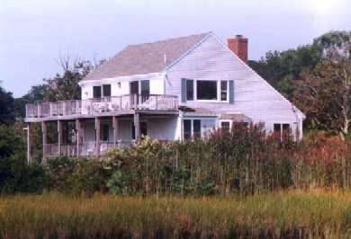 North Chatham Cape Cod vacation rental - Privacy abounds- Salt Box classic Cape -upside down design = view