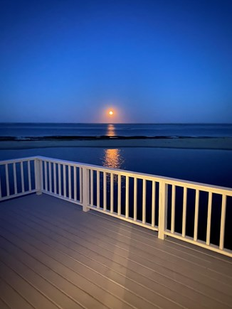North Chatham, Beach, w Kayaks Cape Cod vacation rental - Moonrise over the Atlantic