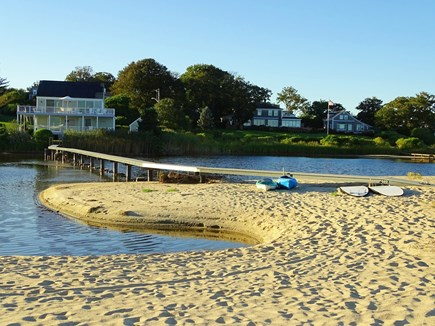 North Chatham, Beach, w Kayaks Cape Cod vacation rental - View from our 5  Adirondack chairs, looking back to house