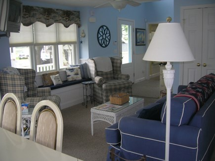 Bourne Cape Cod vacation rental - Open Living room Dining Area and Kitchen