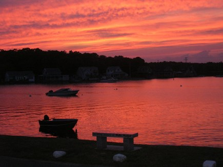 Bourne Cape Cod vacation rental - Beautiful sunsets from the front of the property