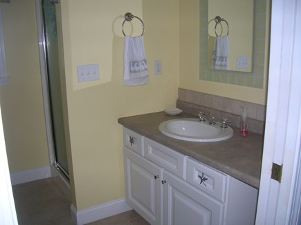 Bourne Cape Cod vacation rental - Downstairs bathroom with shower and Washer/Dryer