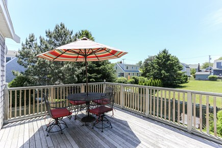 Chatham Cape Cod vacation rental - Deck overlooking fenced backyard