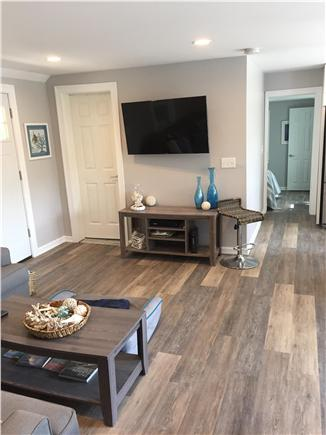 Dennisport Cape Cod vacation rental - Family room with flatscreen TV
