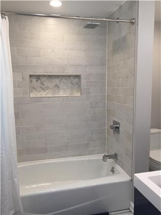 Dennisport Cape Cod vacation rental - Newly renovated bathroom w/double sink vanity