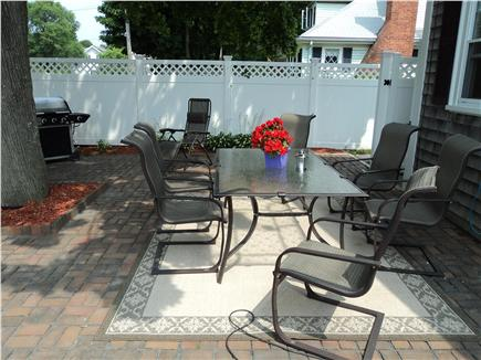 Hyannis Cape Cod vacation rental - Brick Patio enclosed/outside shower