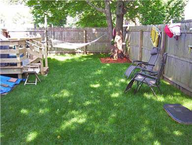 Hyannis Cape Cod vacation rental - Fenced In Back Yard