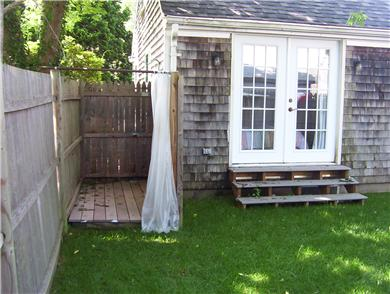 Hyannis Cape Cod vacation rental - Outside shower