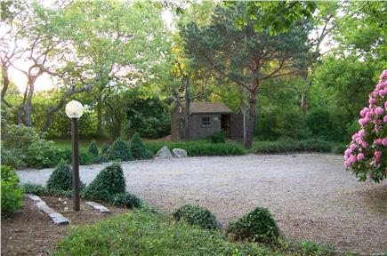 East Sandwich Cape Cod vacation rental - Parking area, side yard with shed