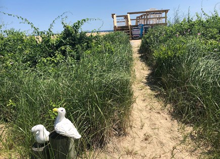 Sandwich Cape Cod vacation rental - Path to the Private Beach