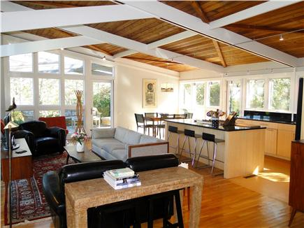 Wellfleet Cape Cod vacation rental - Open living and dining space with floor to ceiling windows