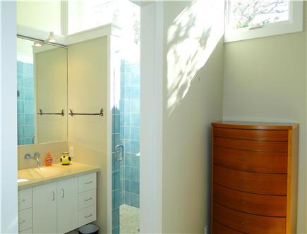 Wellfleet Cape Cod vacation rental - Master bathroom with skylights, walk in shower