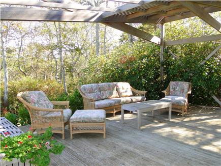 Wellfleet Cape Cod vacation rental - Favorite seating area – back deck, facing water views