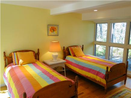 Wellfleet Cape Cod vacation rental - Twin bedroom on first floor with own bath, door to patio
