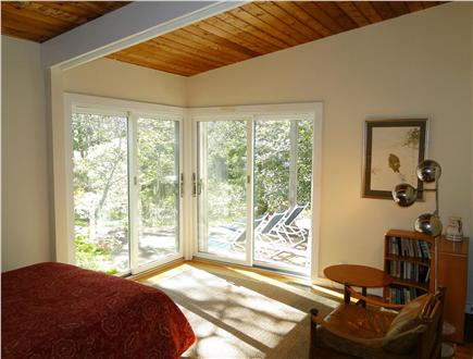 Wellfleet Cape Cod vacation rental - First floor bedroom, opens to patio seating