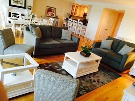 Falmouth Heights Cape Cod vacation rental - Large Living dining room area open to kitchen