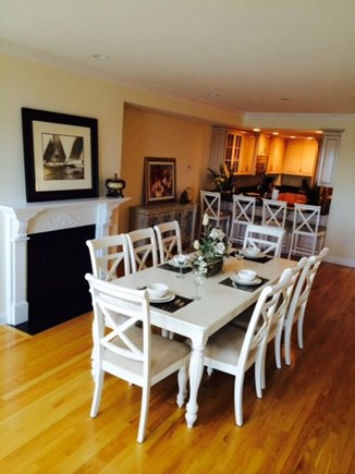 Falmouth Heights Cape Cod vacation rental - Lots of space to eat at dining table,stools and deck table/chairs