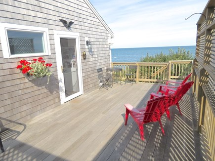 Brewster Cape Cod vacation rental - East deck gets morning sun