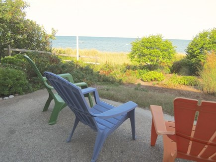 Brewster Cape Cod vacation rental - Patio view offers a different perspectiveon the bay view.