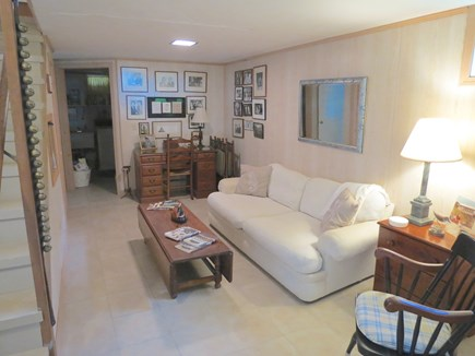 Brewster Cape Cod vacation rental - Lower level lounge area.