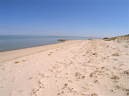 Brewster Cape Cod vacation rental - Beach looking east -- beautiful!