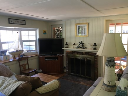 Dennisport Cape Cod vacation rental - Living Room (Fireplace does not work)