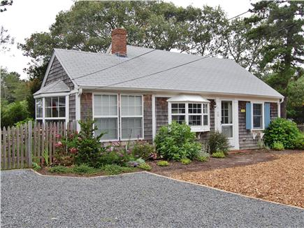 Dennisport Cape Cod vacation rental - Front of cottage (with parking area)