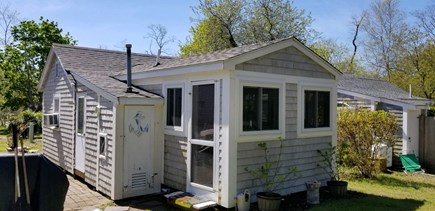 Eastham Cape Cod vacation rental - Enclosed porch on the back of the cottage