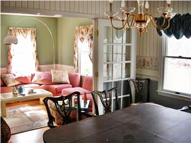 Brewster Cape Cod vacation rental - A Gracious Living Room with French Doors to Dining Room