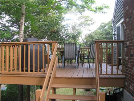 Brewster Cape Cod vacation rental - Enjoy your coffee/meal on this private deck overlooking the pond