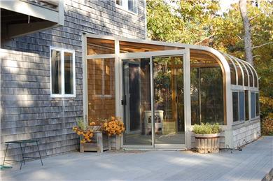 Wellfleet Cape Cod vacation rental - Back deck and sun porch