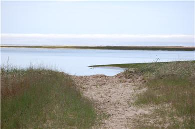 Wellfleet Cape Cod vacation rental - Small swimming beach at high tide 5 minutes walk from house