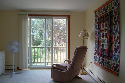 Wellfleet Cape Cod vacation rental - View from master bedroom to small deck & marsh