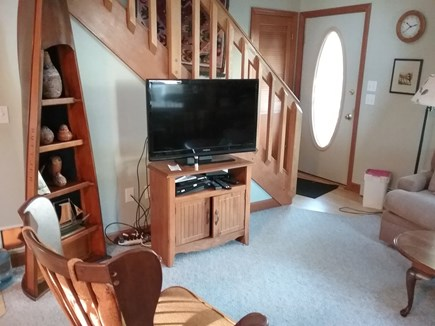 Wellfleet Cape Cod vacation rental - Living room and television, with premium channels