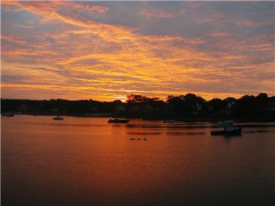 Onset MA vacation rental - Sunrise from our deck