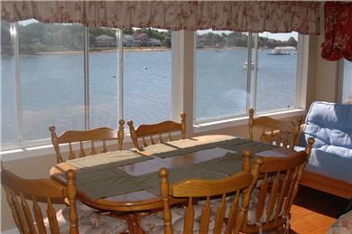 Onset MA vacation rental - Dining Room overlooking the bay
