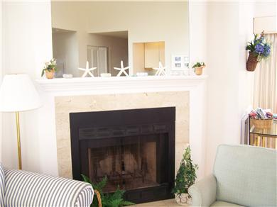 Brewster Cape Cod vacation rental - Fireplace